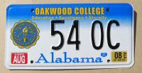 2008 ALABAMA OAKWOOD COLLEGE