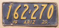 ARIZONA 1929