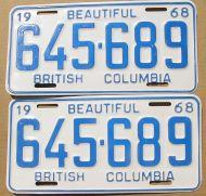 1968 BRITISH COLUMBIA PAIR