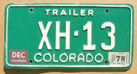 1978 COLORADO TRAILER