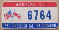 1965 WASHINGTON DC INAUGURATION