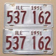 1951 ILLINOIS PAIR