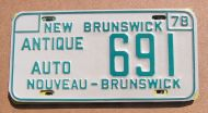 1978 NEW BRUNSWICK ANTIQUE AUTO