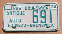 1978 NEW BRUNSWICK ANTIQUE AUTO