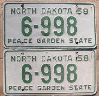 1958 NORTH DAKOTA PAIR