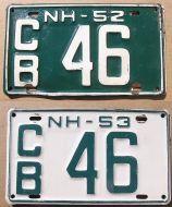 NEW HAMPSHIRE 1952-1953 SET