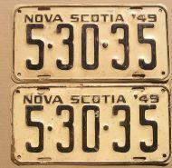 1949 NOVA SCOTIA PAIR