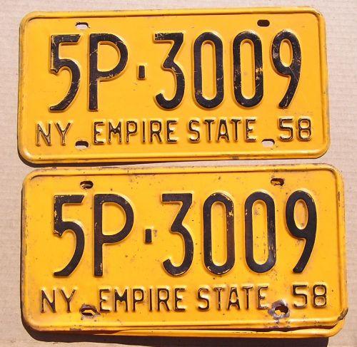 NEW YORK 1958 PAIR