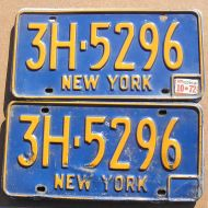 NEW YORK 1972 PAIR