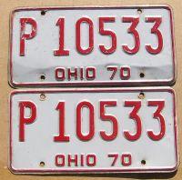1970 OHIO PAIR