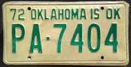 OKLAHOMA 1972