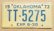 1973 OKLAHOMA HALF YEAR TRUCK TRACTOR