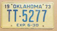 OKLAHOMA 1973 HALF YEAR TRUCK TRACTOR