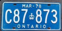 1978 ONTARIO QUARTERLY TRUCK - MARCH