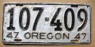 1947 OREGON - A