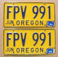 OREGON 1983 YELLOW PAIR