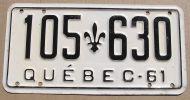 1961 QUEBEC