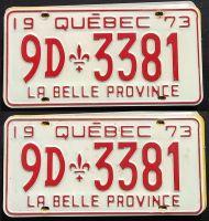 QUEBEC 1973 PAIR