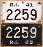 RHODE ISLAND 1940-1941  SET