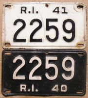 1940-1941 RHODE ISLAND SET