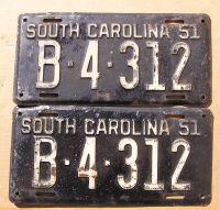 1951 SOUTH CAROLINA PAIR