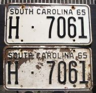 1965 SOUTH CAROLINA TRUCK PAIR