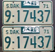 1971 SOUTH DAKOTA PAIR