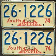 SOUTH DAKOTA 1974 PAIR