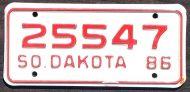 SOUTH DAKOTA 1986 MOTORCYCLE