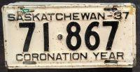 1937 SASKATCHEWAN