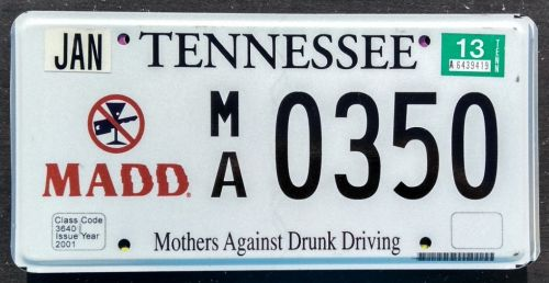 2013 TENNESSEE MADD