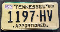 TENNESSEE 1994 APPORTIONED TRUCK