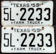 TEXAS 1959 FARM TRUCK PAIR