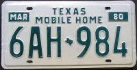 1980 TEXAS MOBILE HOME