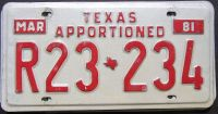 1981 TEXAS APPORTIONED TRUCK