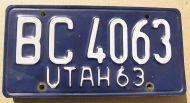 1963 UTAH