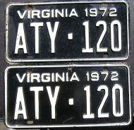 1972 VIRGINIA PAIR
