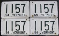1954-1956 VERMONT SET