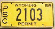 1959 WYOMING PSC PERMIT