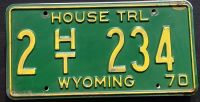 WYOMING 1970 HOUSE TRAILER