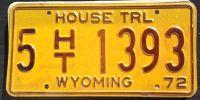 1972 WYOMING HOUSE TRAILER